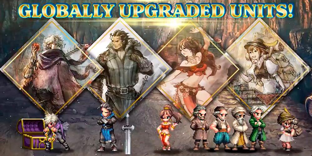 Imagen del juego Final Fantasy Brave Exvius y Octopath Traveler