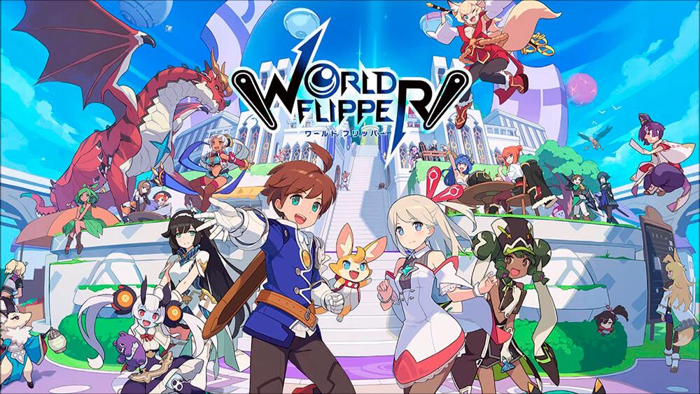 Portada de World Flipper un juego rpg para móviles