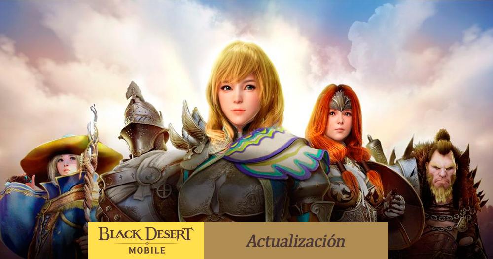 Actualización en el juego Guerra de hermandades en el juego Black Desert Mobile