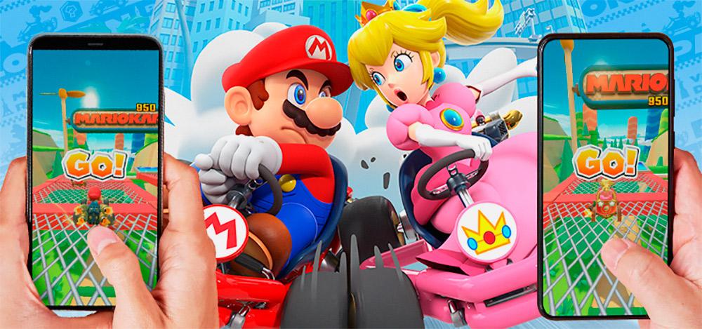 Portada multijugador del juego Mario Kart Tour