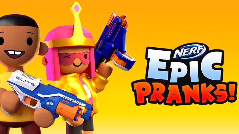 Portada del juego Nerf Epic Pranks