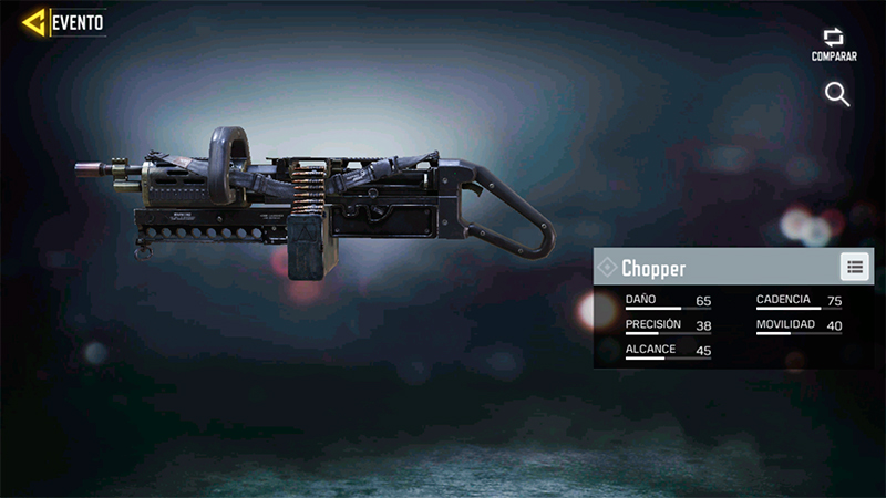 Arma Chopper en Call of Duty Mobile