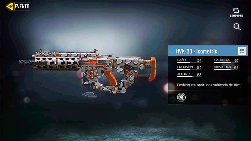 Arma HVK-30 Isometric en Call of Duty Mobile