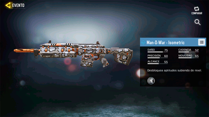 Arma Man-O-War Isometric en Call of Duty Mobile
