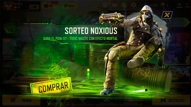 Ruleta Sorteo dañino en Call of Duty Mobile