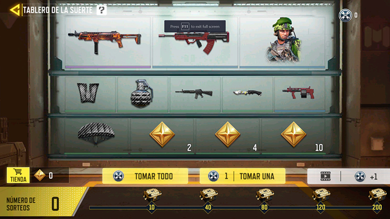 Tablero de la Suerte en Call of Duty Mobile