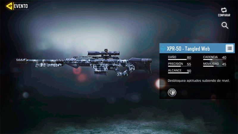 Arma XPR-50 Tangled Web en Call of Duty Mobile