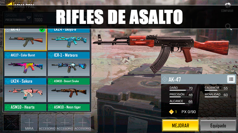 Rifles de Asalto en Call of Duty Mobile