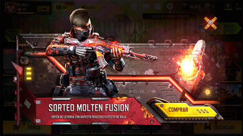 Sorteo Fusión Fundida en Call of Duty Mobile