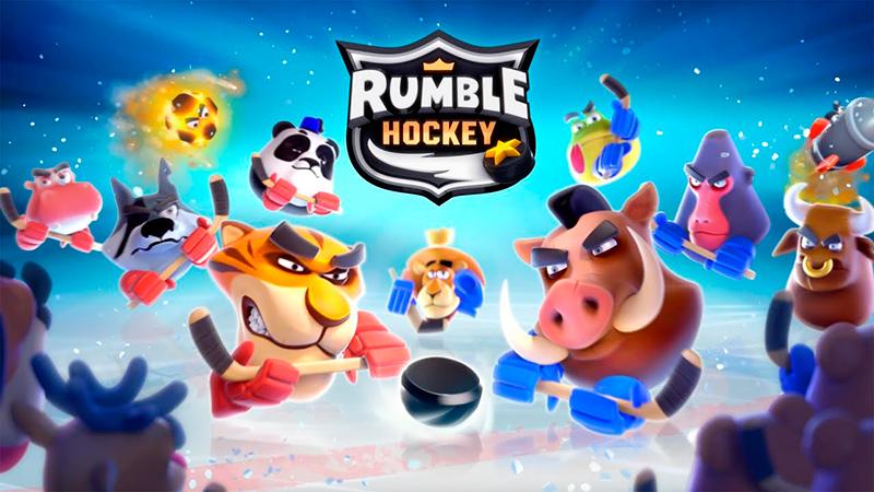 Portada del juego Rumble Hockey