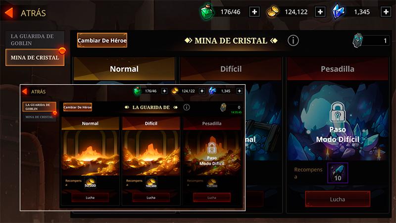 La Guarida del Goblin y la Mina de Cristal en Shadow Knight