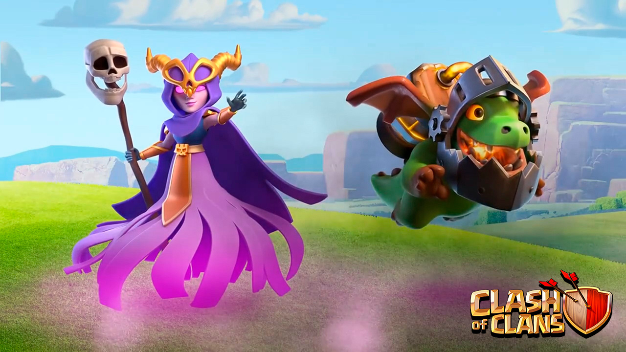 clash of clans nuevas supertropas la superbruja y dragon infernal.