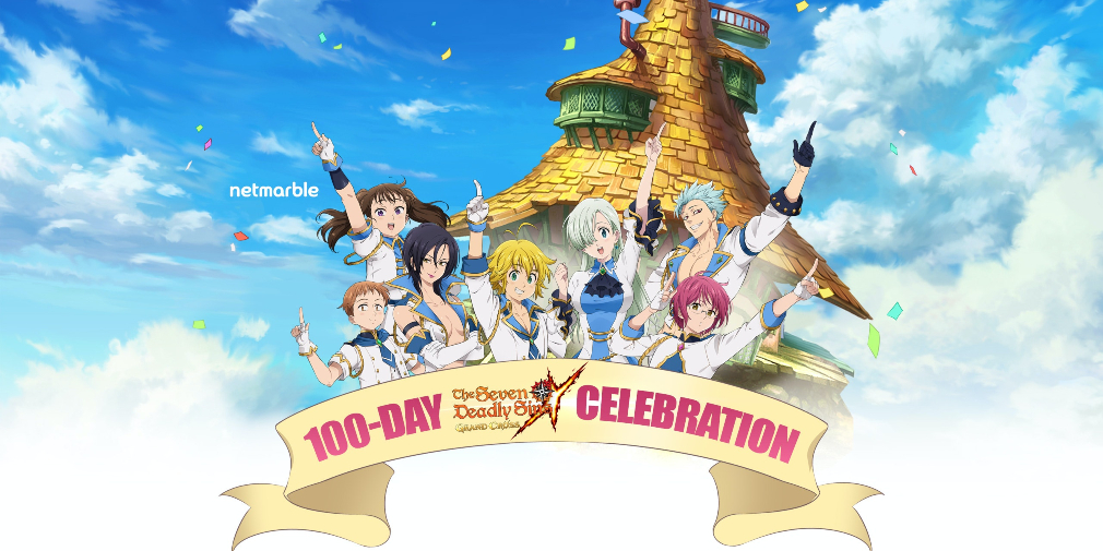 The seven deadly sins grand cross 100 días de celebración.