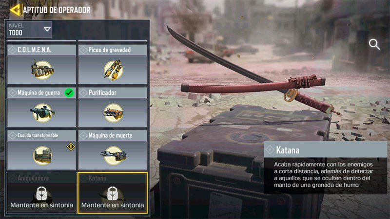 Operador Katana en Call of Duty Mobile