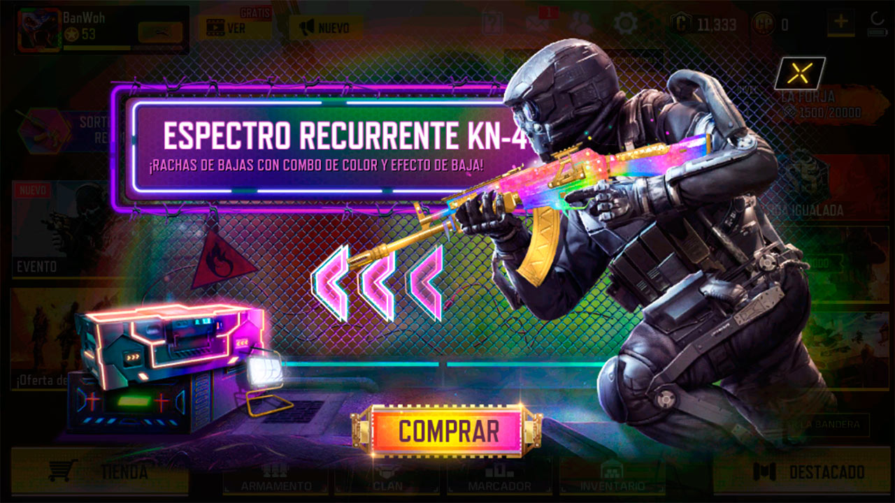 Ruleta Espectro recurrente en Call of Duty Mobile