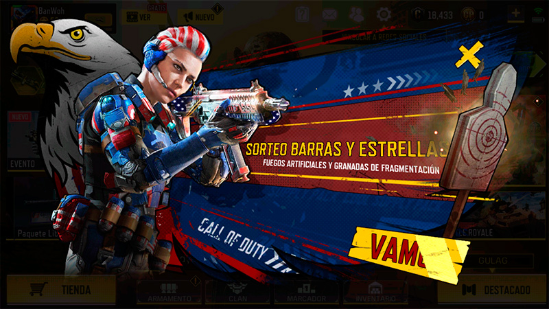 Sorteo Barras y estrellas en Call of Duty Mobile