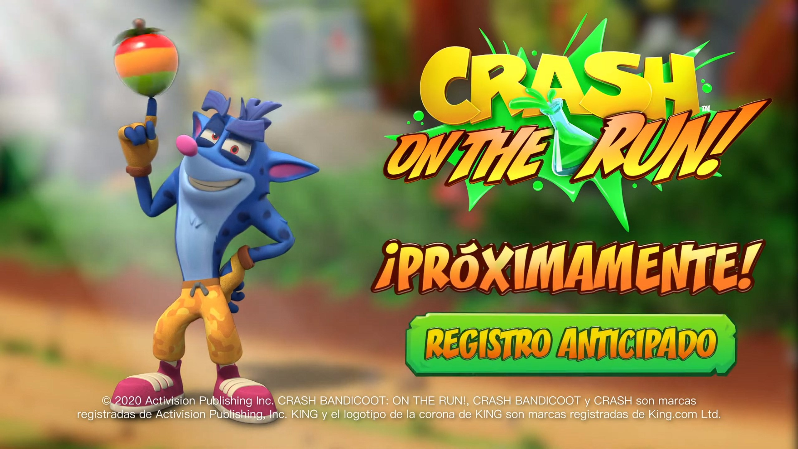 Crash Bandicoot: On the Run! disponible para pre-registro en iOS y Android.