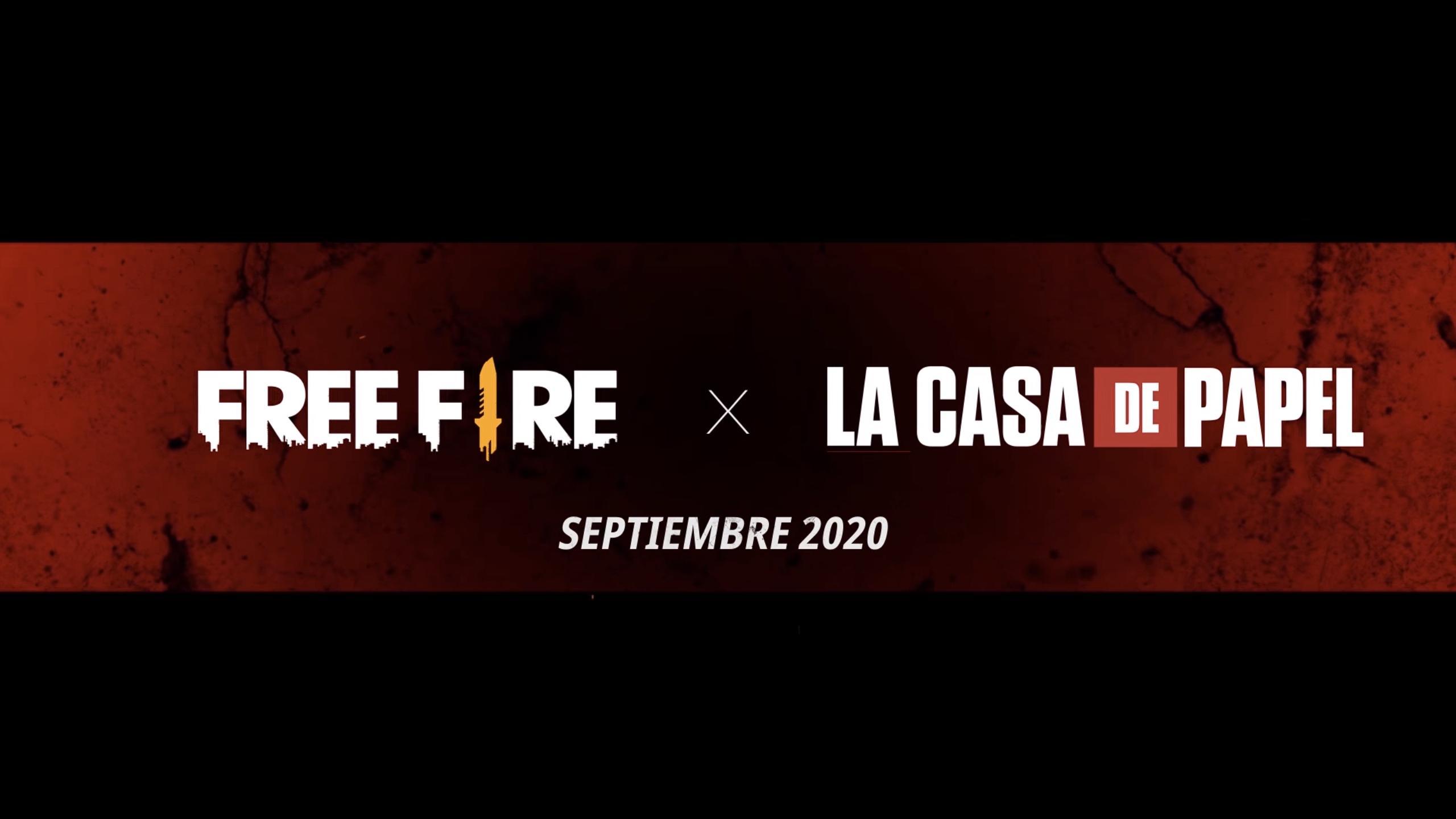 garena free fire colaboración casa de papel