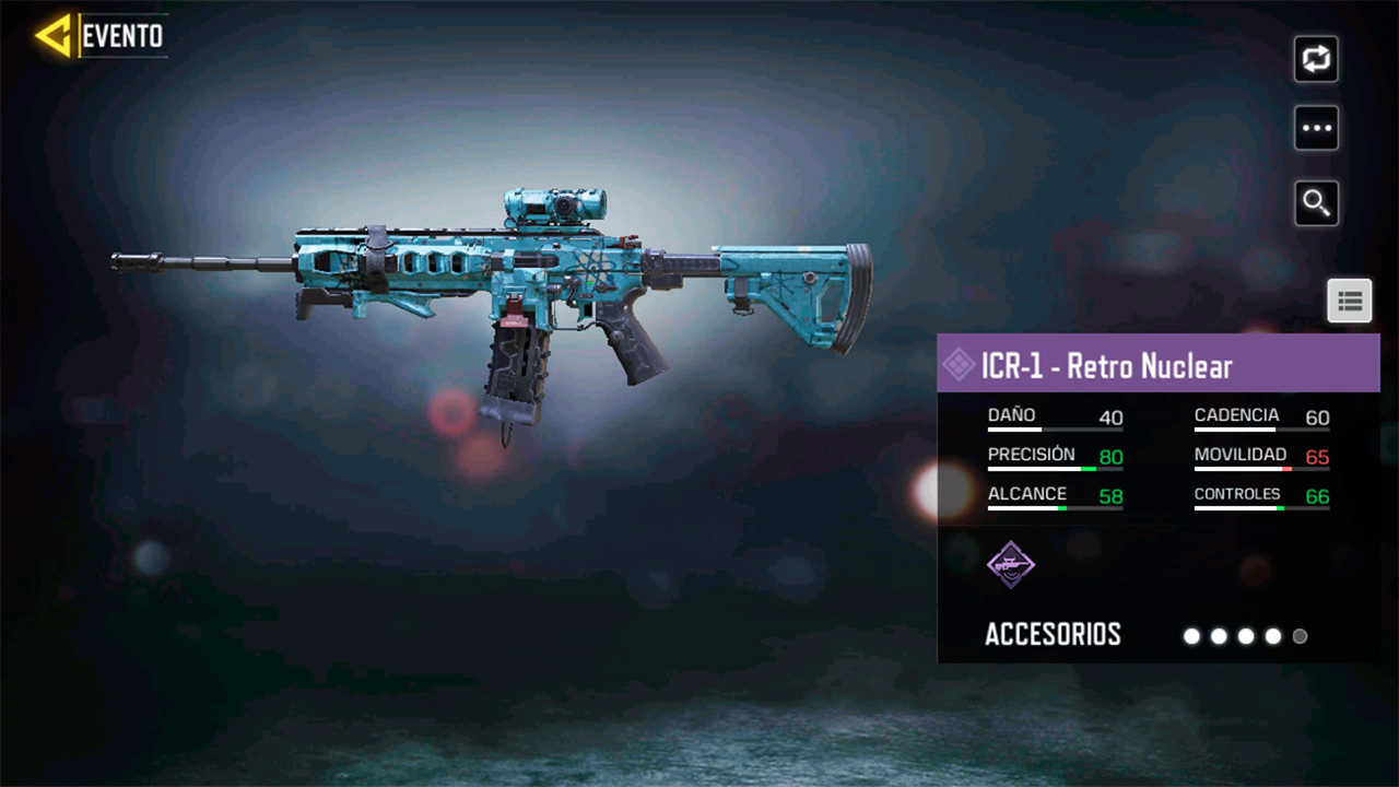 ICR-1 Retro Nuclear en Call of Duty Mobile