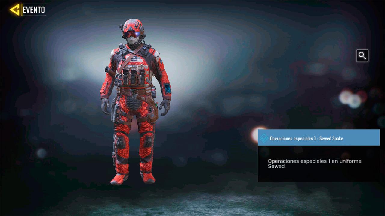 Soldado Operaciones-especiales 1 sewed snake en Call of Duty Mobile