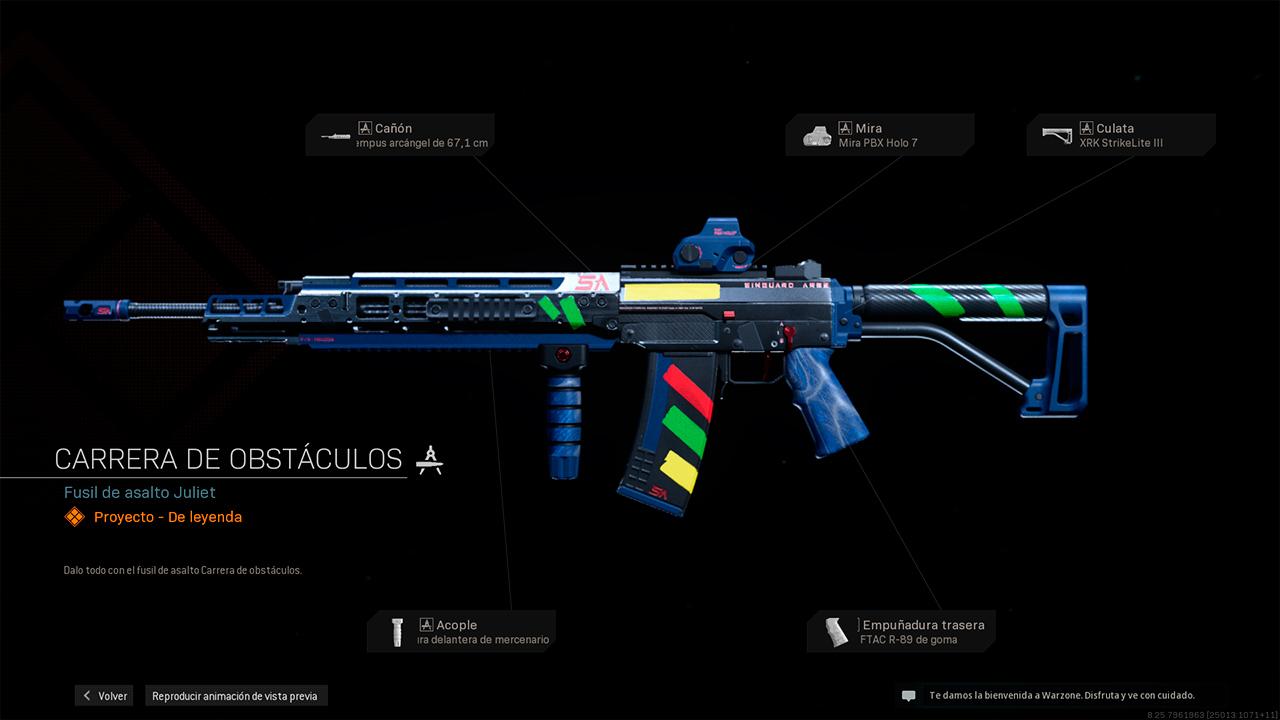 Fusil de asalto Juliet en Call of Duty Warfare y Warzone