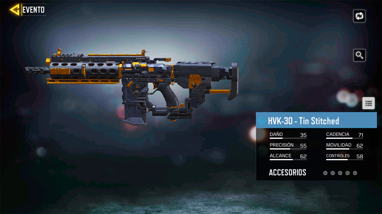 Arma HVK-30 Tin Stitched en Call of Duty Mobile