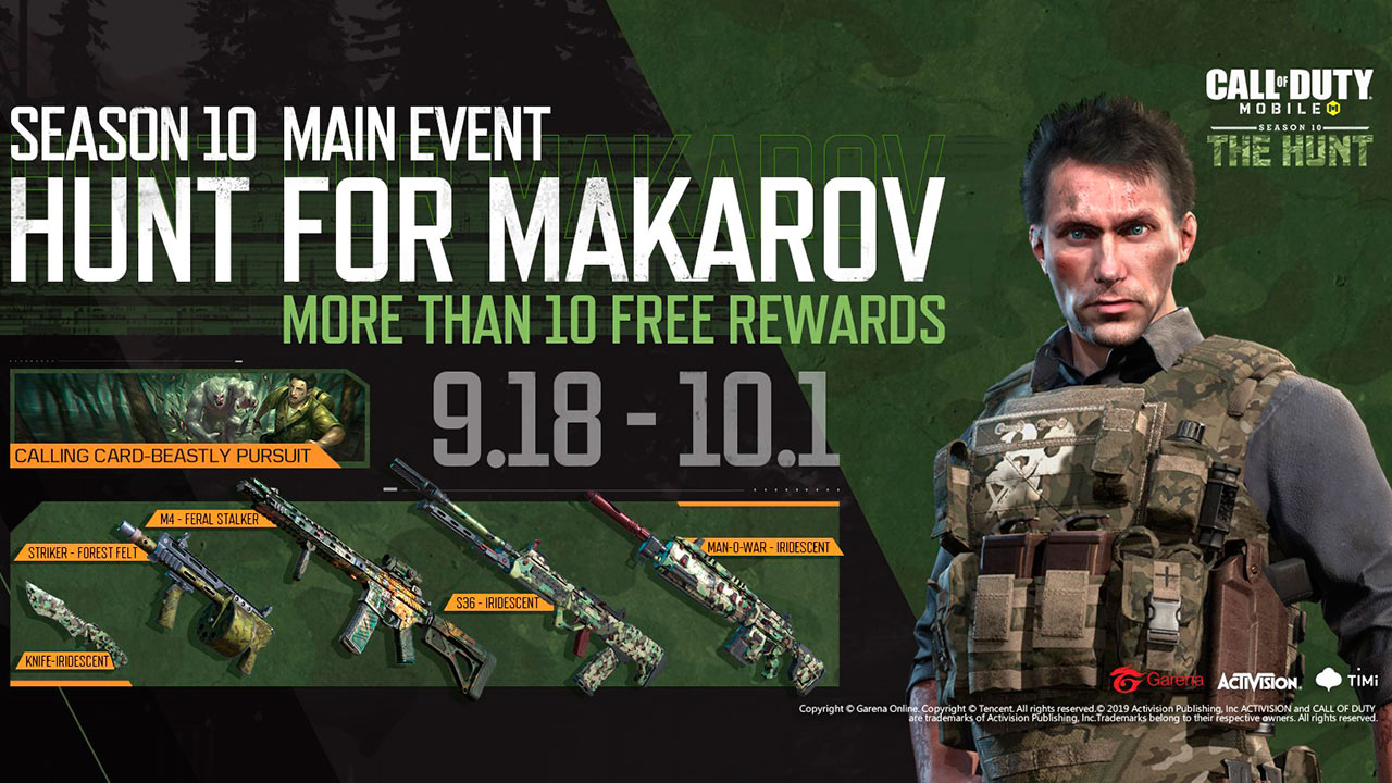 Evento Caceria a Makarov en Call of Duty Mobile