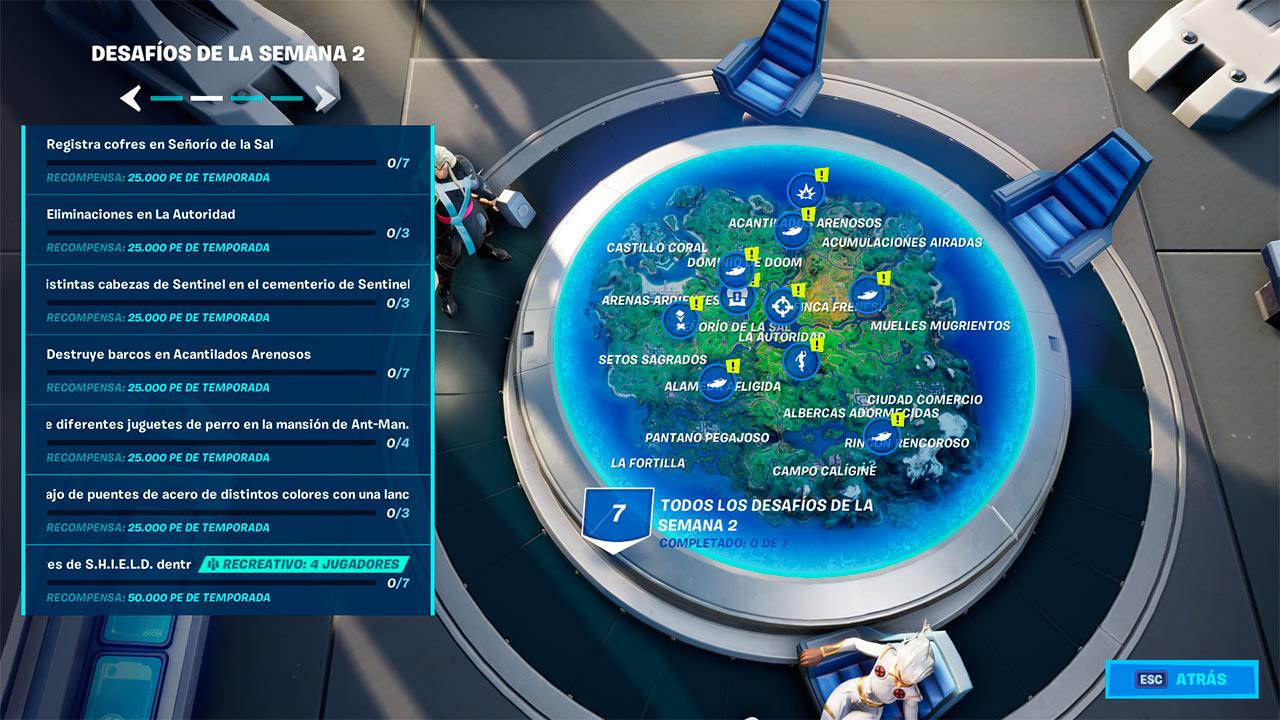 Desafíos semana 2 de la temporada 4 del capítulo 2 en Fortnite
