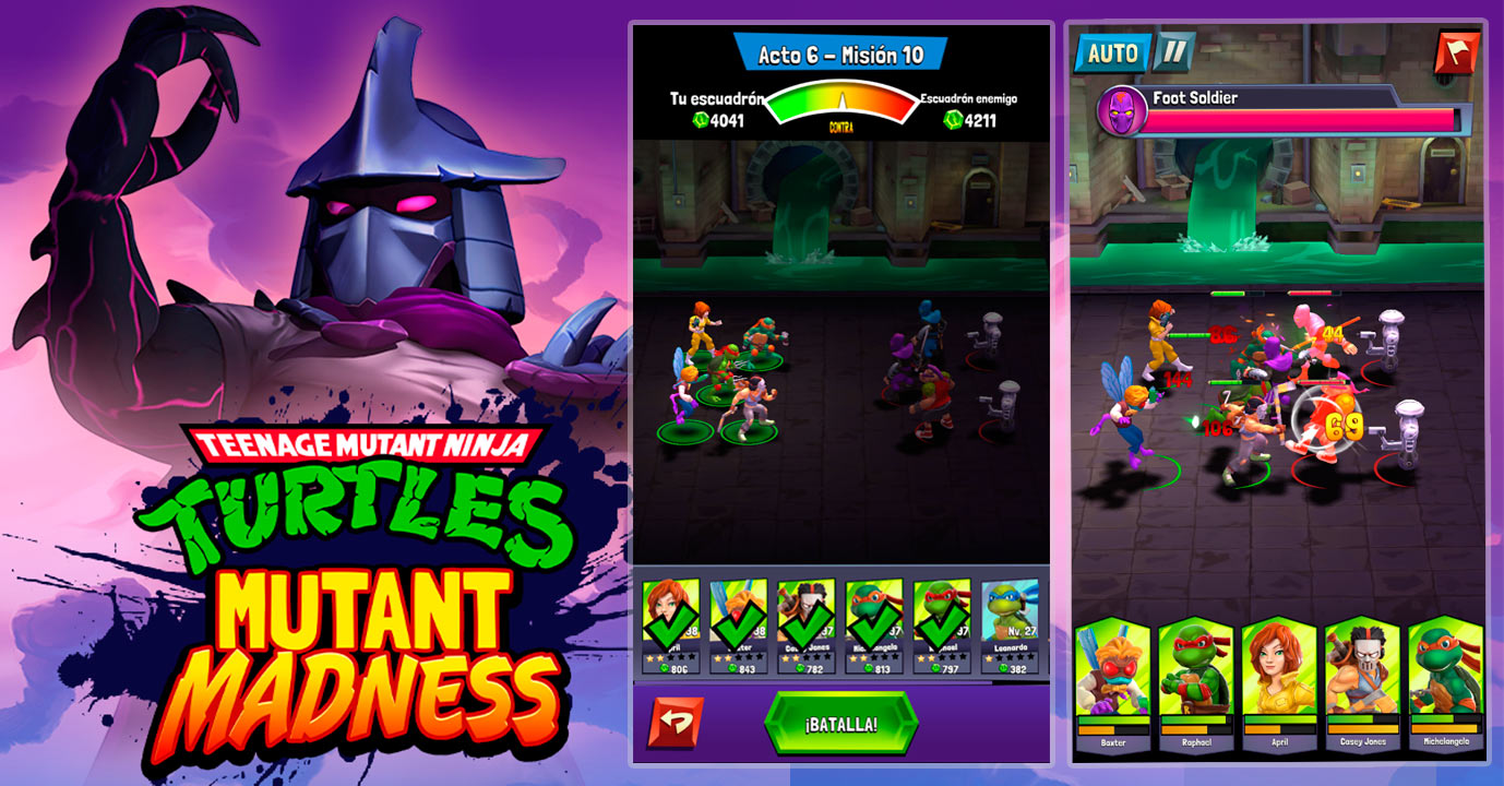 Sistema de combate TMNT Mutant Madness