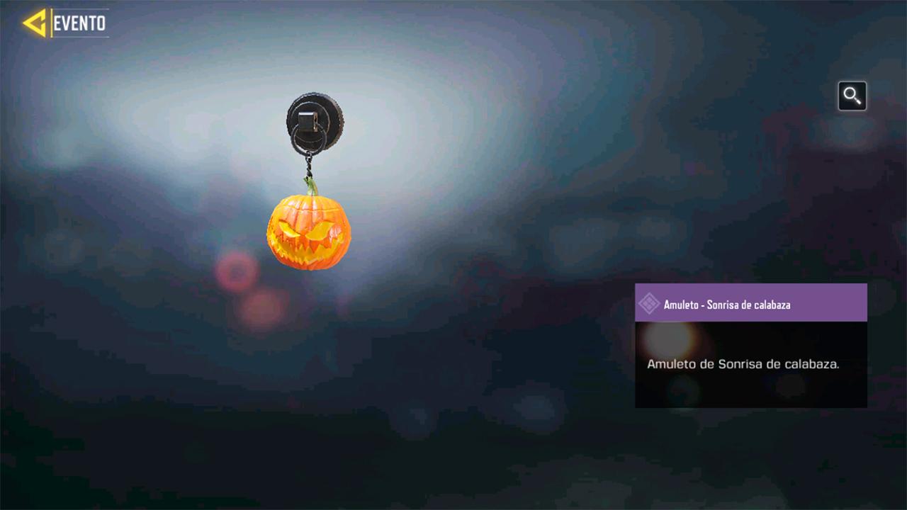 Amuleto Sonrisa de calabaza en Call of Duty Mobile