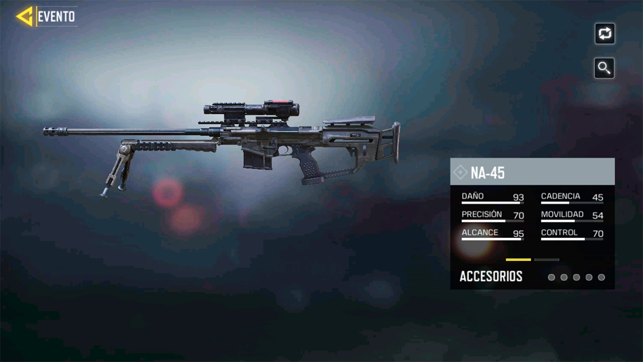 Arma NA-45 en Call of Duty Mobile