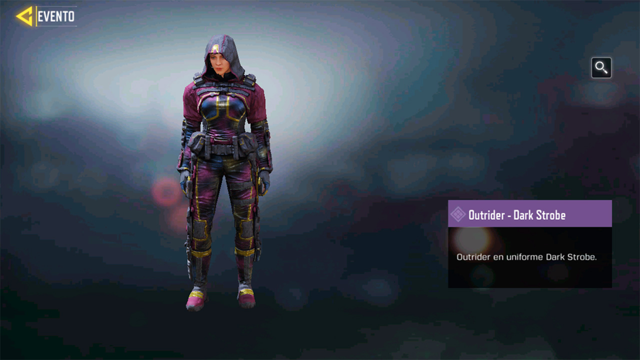 Personaje Outrider Dark Strobe en Call of Duty Mobile