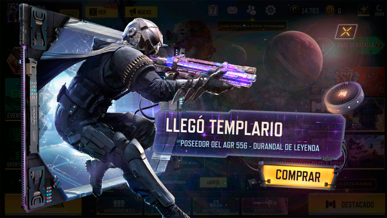 Templario en Call of Duty Mobile