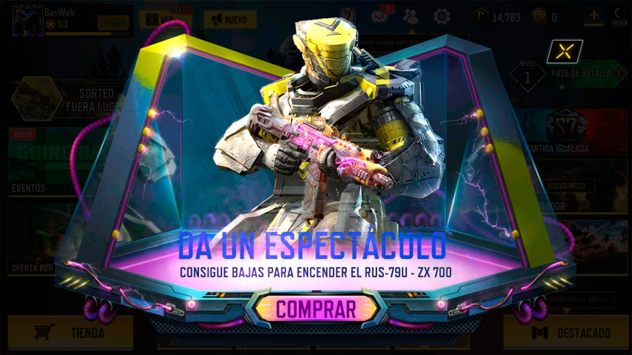 Sorteo ruleta Fuera Luces en Call of Duty Mobile