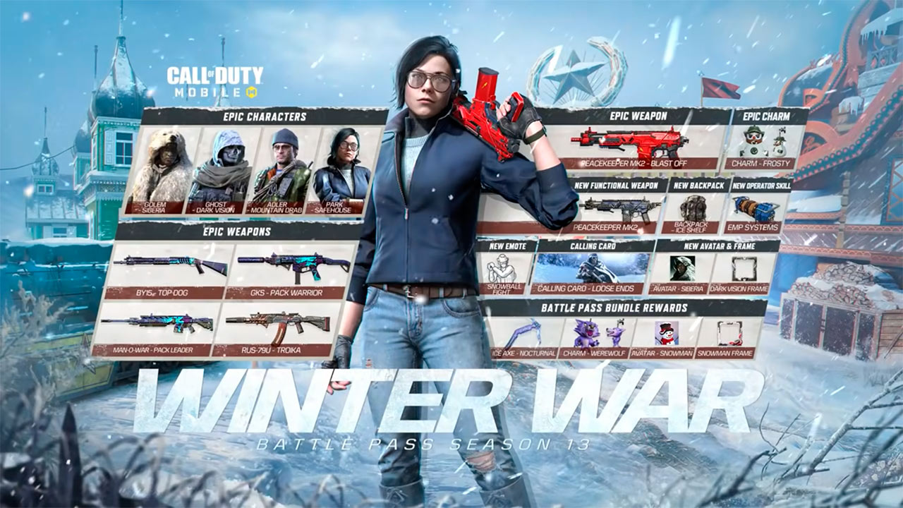 Pase de batalla Temporada 13 Winter War de Call of Duty Mobile