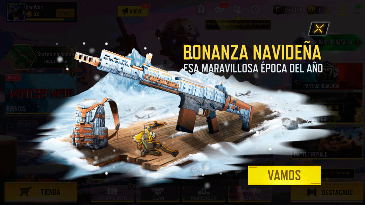 Evento Bonanza navideña en Call of Duty Mobile