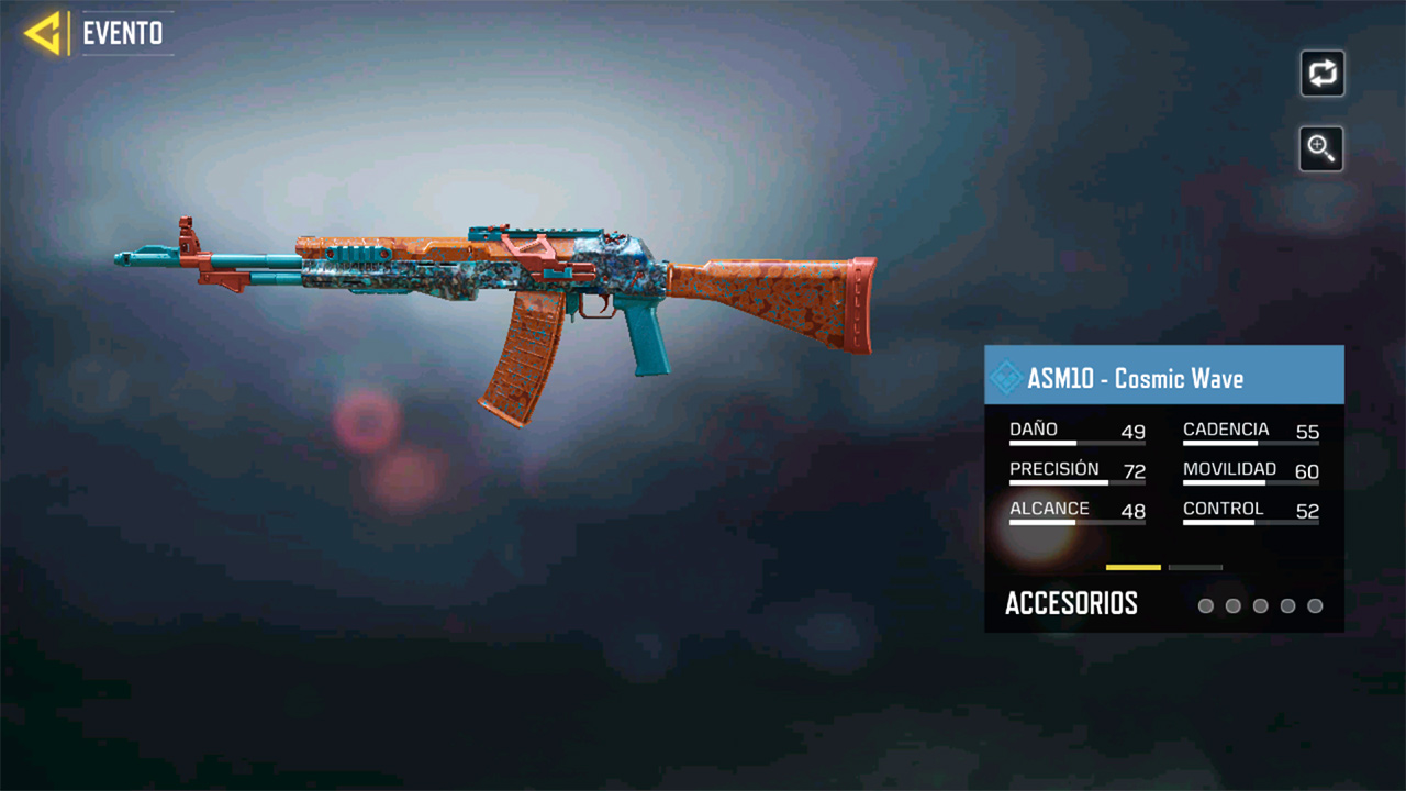 Arma ASM10 Cosmic Wave de Call of Duty Mobile