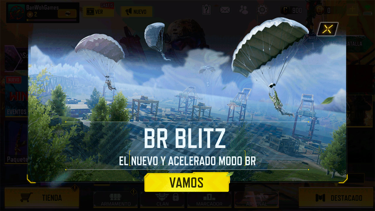 Modo de juego Battle Royale: Blitz de Call of Duty Mobile