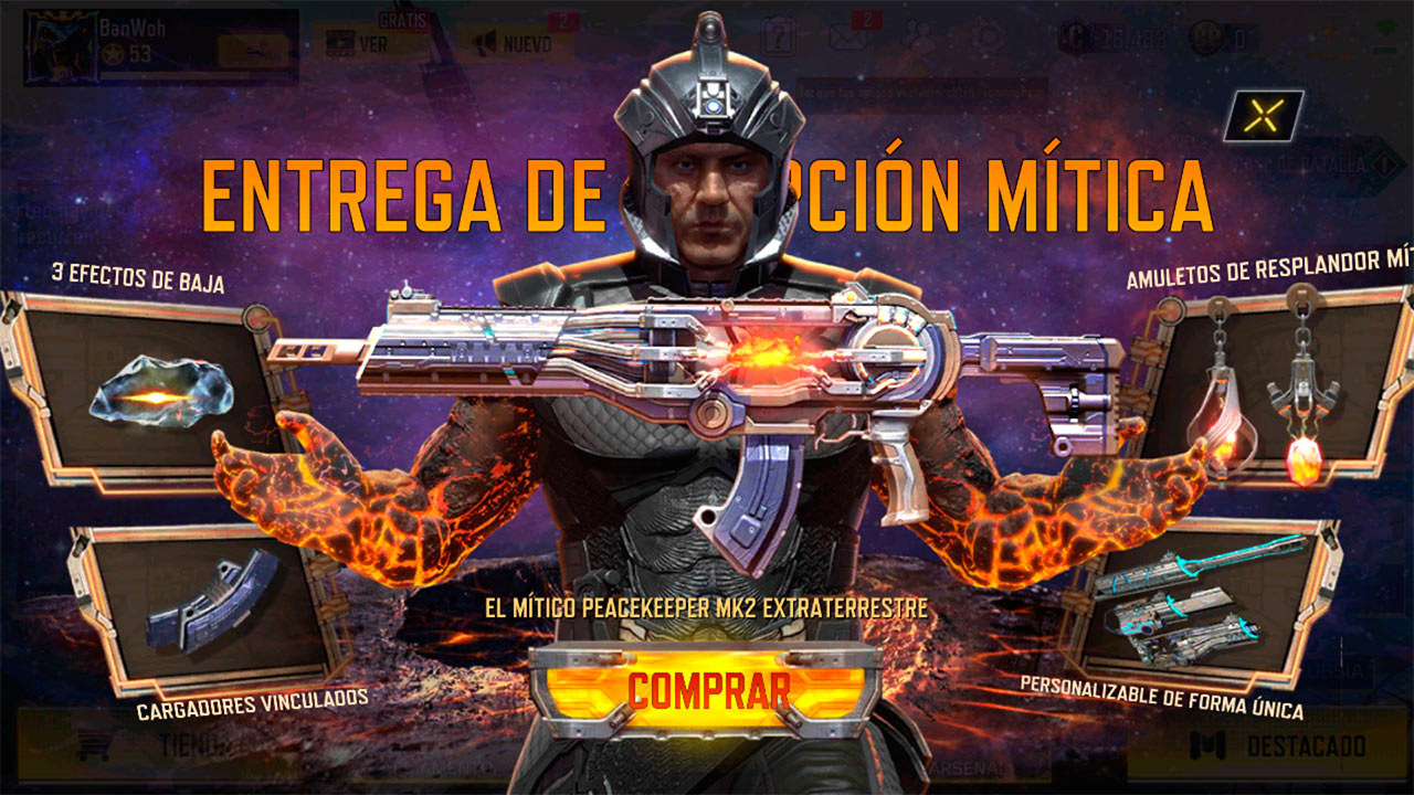 Peacekeeper MK2 Artifact en Call of Duty Mobile