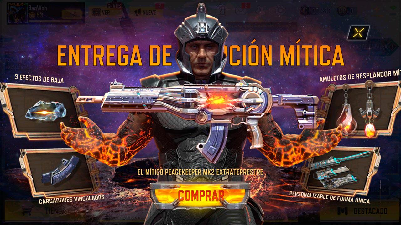 Peacekeeper MK2 Artifact en Call of Duty Mobile