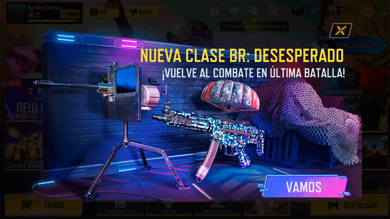 Clase BR Desesperado en Call of Duty Mobile
