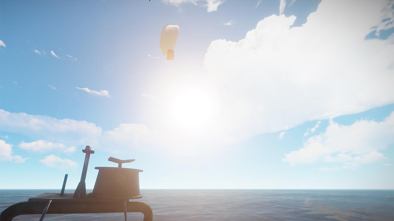 Señal de suministros en el mar de Rust