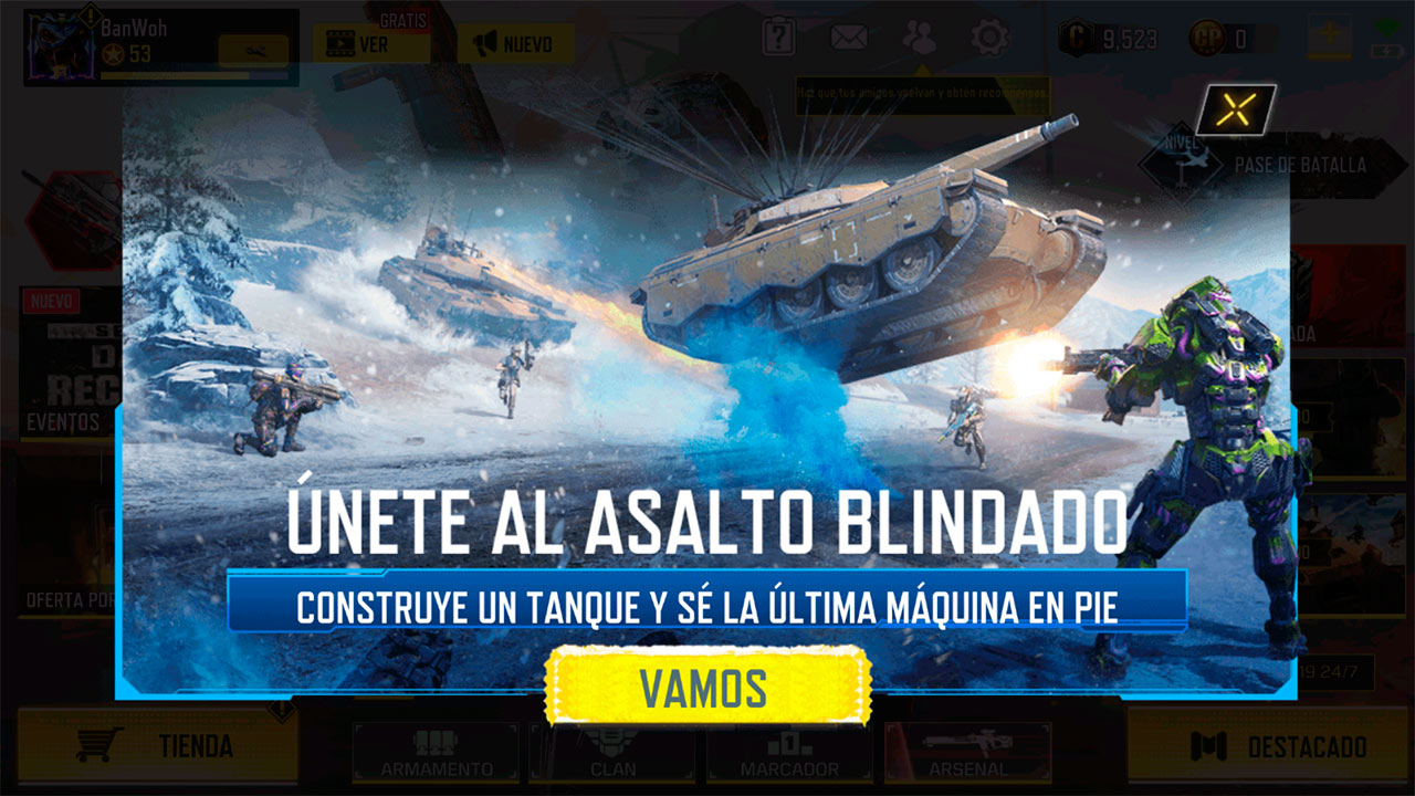Evento Construido como un tanque en Call of Duty Mobile