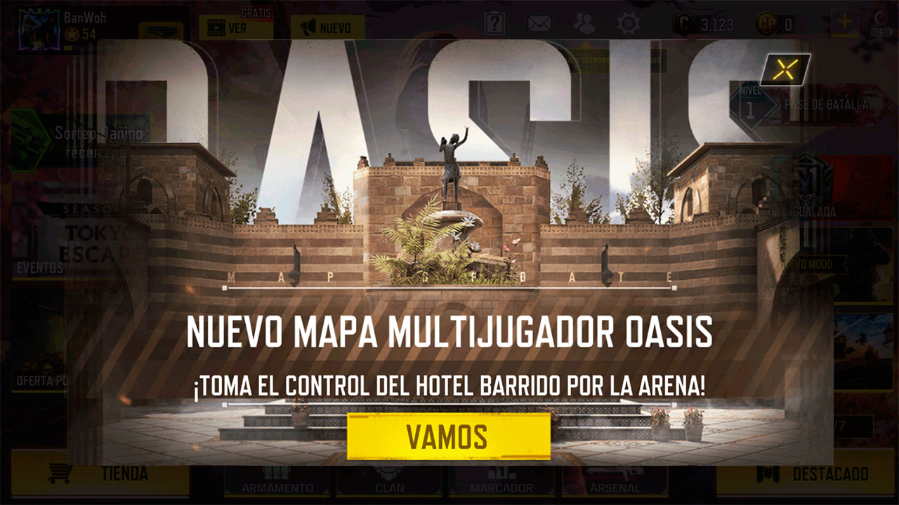 Mapa Oasis en Call of Duty Mobile