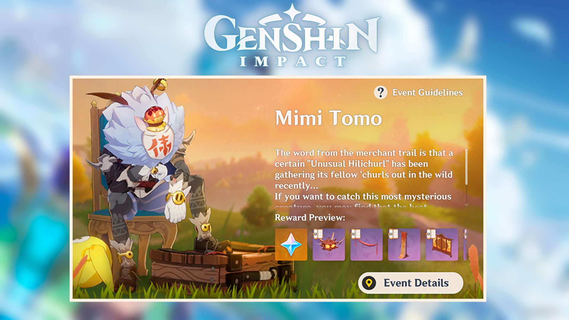 Mimi tomo en Genshin Impact