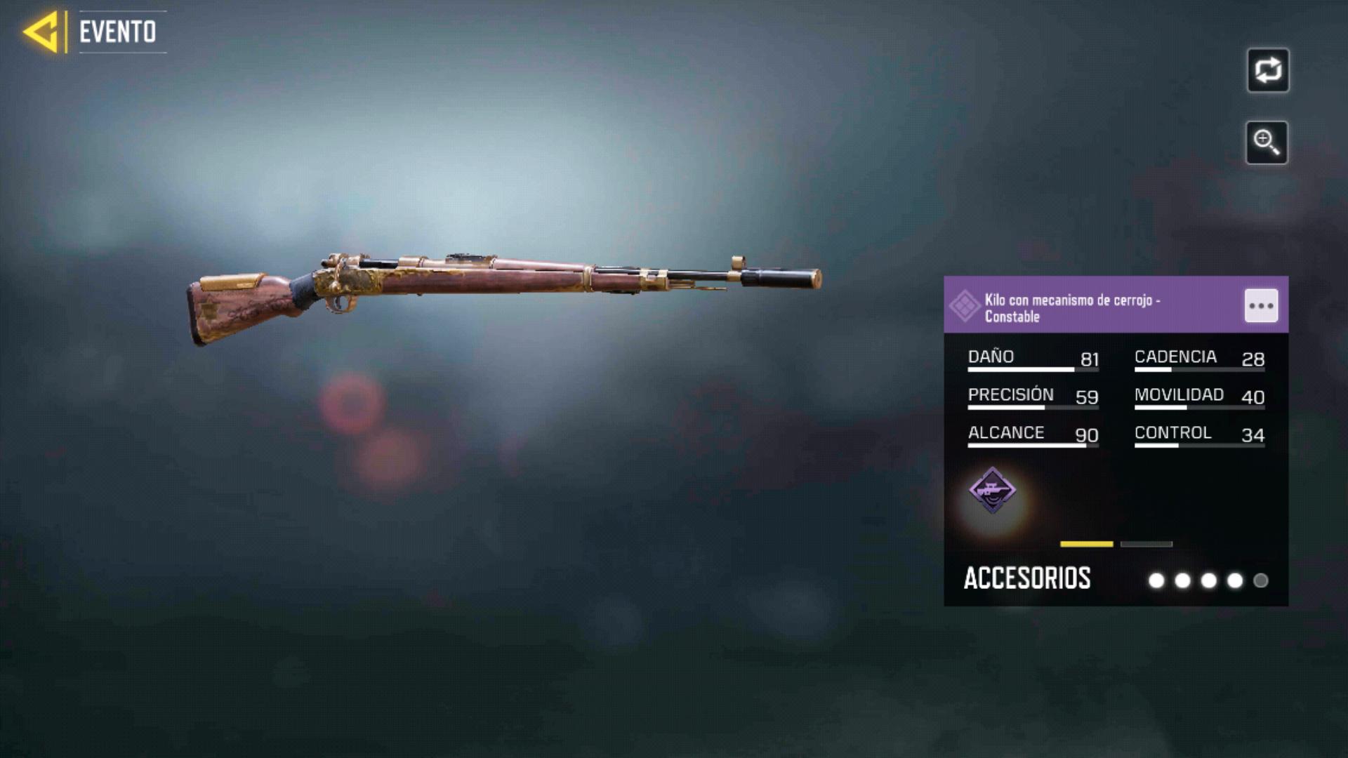 Kilo con mecanismo de cerrojo Constable en Call of Duty Mobile