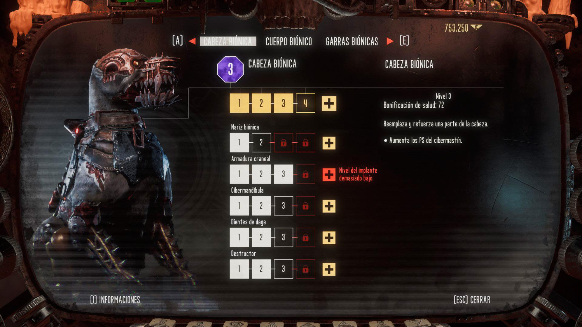 Mejoras para el perro en Necromunda: Hired Gun