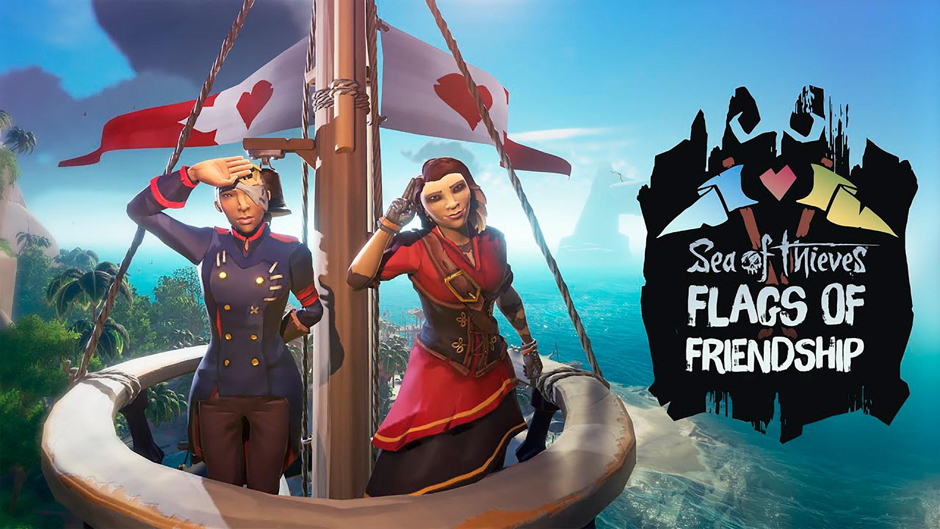 Evento Flags of Ffriendship en Sea of Thieves
