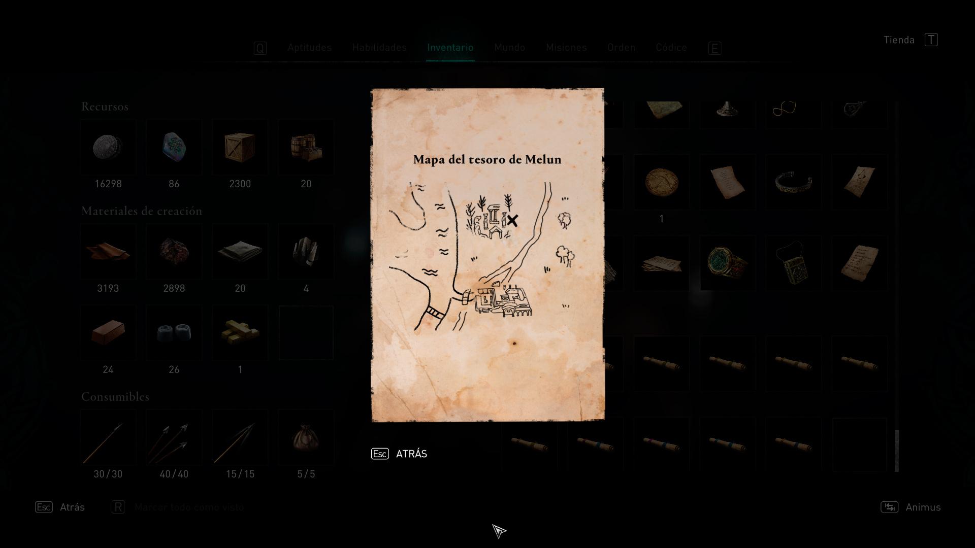 Mapa del tesoro de Melun en Assassin's Creed Valhalla