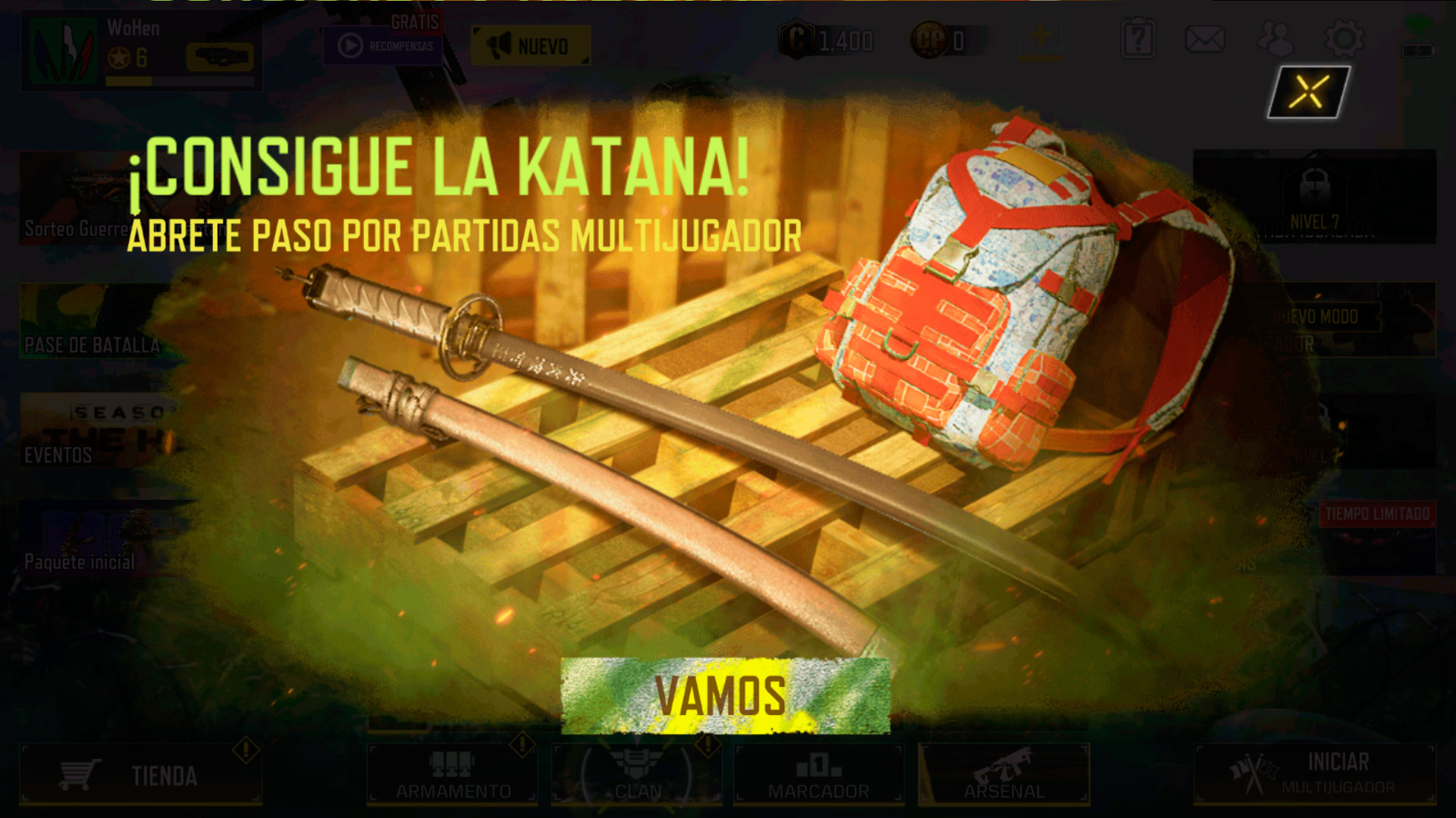 Katana en Call of Duty Mobile